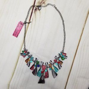 Betsey Johnson Multicolor Abstract Necklace